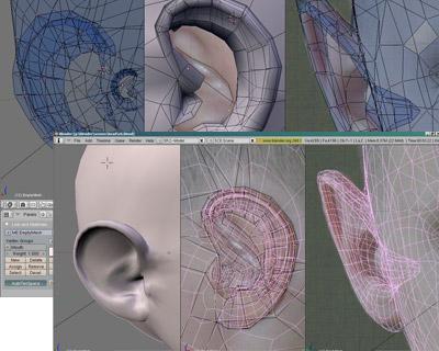 Моделирование ушной раковины