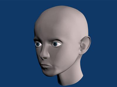 3D модель головы ребёнка